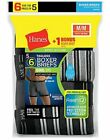 Hanes 6 Pack Boxer Briefs Men FreshIQ ComfortSoft Value Tag Free Assorted Stripe <br/> Save Extra 20% off using code PERFECTFIT min 50.00