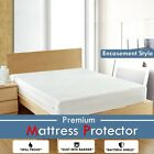 Poly Cotton 100% Waterproof Mattress Protector White Solid Encasement Style image