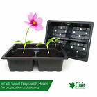 4 Cell Bedding Plant Pack Tray Inserts for Half Size Seed Propagator Trays