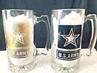 Personalized Military Branch Beer Mug, Military Gift, 12 oz 2-Piece Set