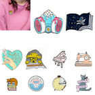 Cartoon Cat Animal Lovely Enamel Pin Brooches Jacket Clothes Backpack Badges