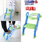 NEW Potty Training SEAT With Step Stool Ladder for Child Toddler Toilet Chair US image