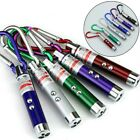 10/20PCS Laser Pen Mini 3 in1 Keychain LED Torch & Red Lazer Pointer Cat Pet Toy