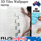 2/4/8/10/20 Pcs 3d Wall Paper Panel Brick Stickers Mural Marble Adhesive Diy