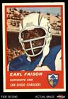 1963 Fleer #77 Earl Faison Chargers Indiana 5 - EX $11.0 USD on eBay