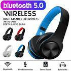 Wireless 5.0Bluetooth Headphones Foldable Stereo Earphones Super Bass Headset UK