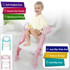 Toddler Toilet Training Seat Ladder W/Sturdy Adjustable Step& Soft Seat Kids image