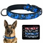 Adjustable Leather Dog Puppy Collar Reflective Male Boy Pet Collars Camouflage
