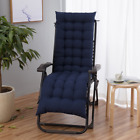 2x Replacement Garden Sun Lounger Cushions Pad for Relaxer Recliner Chair Cotton