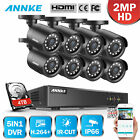 ANNKE 2000TVL HD Security Camera System 8CH 1080N DVR Home Outdoor Hard Drive US