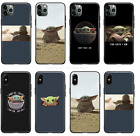 The Mandalorian Baby Yoda Star Wars Soft Silicone Phone Case For iPhone