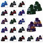 New Embroidered Milwaukee Bucks Basketball Teams Hat Warm Knitted Pom Beanie Cap