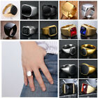 Unique Chic Mens Wedding Signet Ring 316l Stainless Steel Finger Band Jewellery