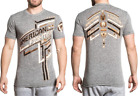 American Fighter Mens Short Sleeve T-Shirt DALEVILLE Heather Grey L-3XL $40 NWT