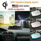 180° Car QI Wireless Charger HUD Head Up Display Holder GPS Phone Charging Dock