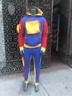 Details about Men's Royal Blue  Red Fashion Fleece Hooded Sweatsuit