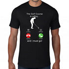 The Golf Course Is Calling & I Must Go T-Shirt,Funny Phone Screen Golfing Sports