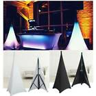 2pcs Tripod Speaker Stand Covers Scrim Double Sided Spandex Lycra DJ Stretch Pad