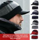 Men Warm Beanie Winter Thicken Hat And Scarf Two Piece Knit Windproof Cap US