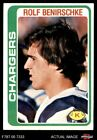 1978 Topps #122 Rolf Benirschke Chargers Cal-Davis 7 - NM $1.85 USD on eBay
