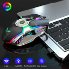 2.4Ghz Optical LED Wireless Gaming Mouse USB Rechargeable Backlit Computer Mice