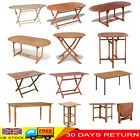 Wood Folding Garden Dining Table Outdoor Party Desk Furniture Retangle/round New