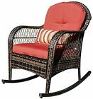 Outdoor All- Weather Wicker Rocking Chair Rattan Outdoor Patio Yard Furniture