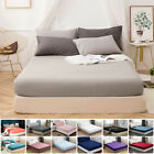 MOHAP 16'' Deep Pocket Bed Fitted Sheet Bottom Sheet Fade Resistant Full Size US