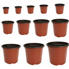 100Pcs Plastic Garden Nursery Pot Flower Terracotta Seedlings Planter