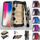 for Apple iPhone XS Max Armor Holster Impact Rugged Case Cover+Tool