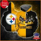 FREESHIP NFL Pittsburgh Steelers Legend All Over Print 3D Hoodie S-5XL $46.99 USD on eBay
