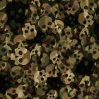 Soft Shell 3-LAYER Waterproof Fabric Material SKULL CAMOUFLAGE - GREEN