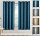 Blackout Curtains Kitchen Living Room Bedroom Small / Short Window Curtain Pair