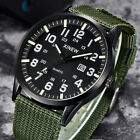 XINEW Outdoor Sport Mens Watches Date Nylon Canvas Band Quartz Cuff Wristwatch image