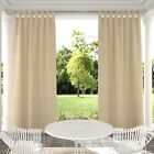 Self-sticky Tab Top Outdoor Indoor Curtains Privacy Partition Single Panel Beige