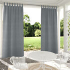 Self-sticky Tab Top Outdoor Indoor Curtains Privacy Partition Single Panel Gray