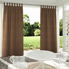 Self-sticky Tab Top Outdoor Indoor Curtain Privacy Partition Single Panel Coffee