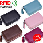 Women/Men's Leather RFID-Blocking Purse ID/Credit Card Holder Coin Small Wallet image