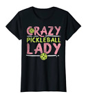 Crazy Pickleball Lady Funny Pickle Ball Sport Women Gift T-Shirt