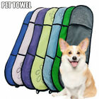 Absorbent Dog Drying Towel Microfiber for Dog Cat Bath Towel with Hand Pockets