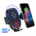 US Automatic Clamping Wireless Car Charging Charger Air Vent Phone Holder Base