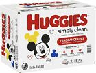 HUGGIES Simply Clean Baby Wipes 192/320/576/704/1152 Count IN STOCK !
