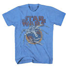 Star Wars X-Wing Retro Distressed Blue Heather Men's Graphic T-Shirt New $13.94 USD on eBay
