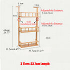 2/3/4 Tiers Bamboo Refrigerator Side Storage Rack Wall Hanging Shelf Kitchen