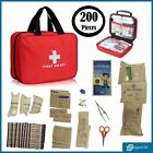 200 PIECES FIRST AID KIT MEDICAL EMERGENCY TRAVEL HOME CAR TAXI WORK 1ST AID BAG