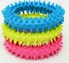 2 x Dog Toy Puppy Soft Rubber Teething Play Pet Train Healthy Gum Chew Ring 4615