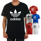 Adidas Men's Short-Sleeve Trefoil Logo Graphic T-Shirt Gray Blue Black Red White image