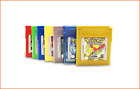 GBC-Pokemon green yellow red silver gold crystal blue game card game boy color