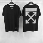 Off White Reflective Arrow Hip-hop Sports Men's Short Sleeve T-Shirt Unisex