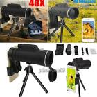 Monocular 40X60 Zoom Optical HD Lens Telescope Clip-on Tripod For iPhone 8 7Plus